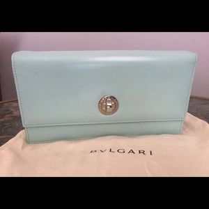 Bulgary Foebee turquoise Leather woman's Clutch